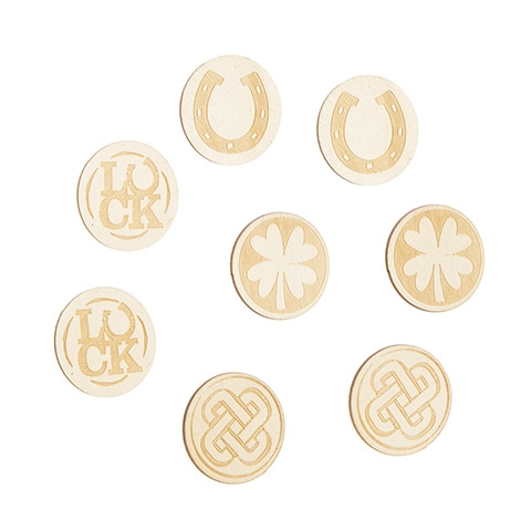 Darice UNFINISHED WOOD COINS 8 Piece 30063084 zoom image