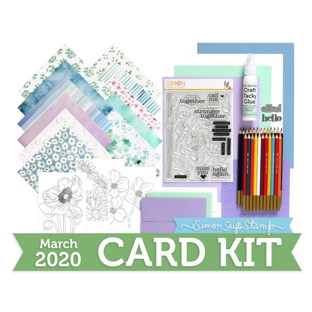Simon Says Stamp Card Kit of The Month MARCH 2020 STRONGER TOGETHER ck0320 zoom image