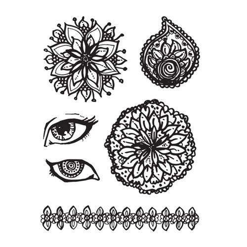 JD-089 Spellbinders MANDALA ACRYLIC CLEAR STAMP SET Jane Davenport Preview Image