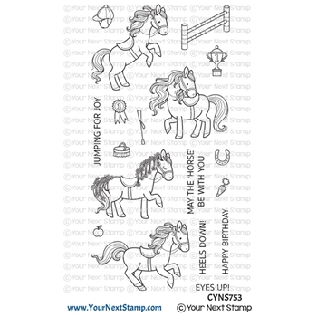 Your Next Stamp SHOW PONIES Clear cyns753