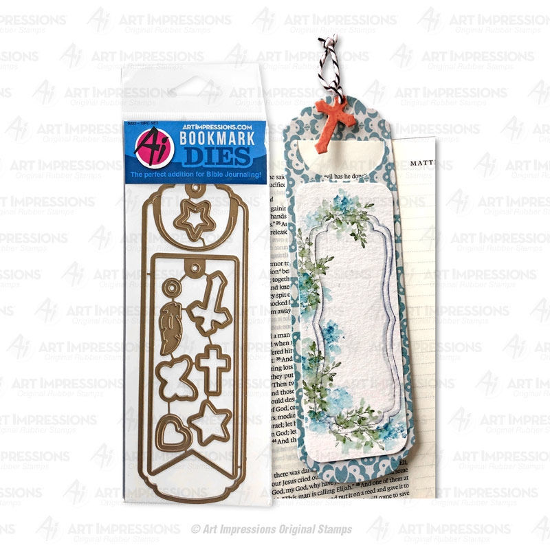 Art Impressions BOOKMARK Bible Journaling Dies 5223 zoom image