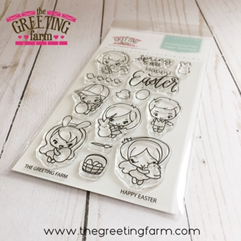 The Greeting Farm HAPPY EASTER Clear Stamps tgf538