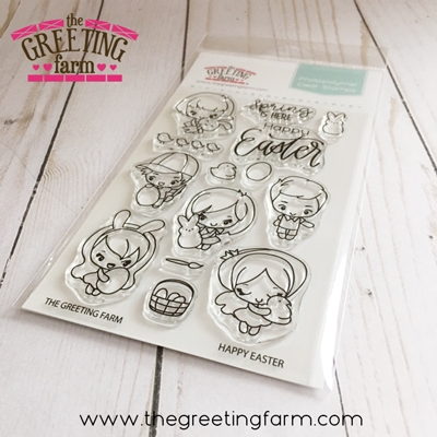 The Greeting Farm HAPPY EASTER Clear Stamps tgf538 zoom image