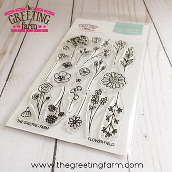 The Greeting Farm FLOWER FIELD Clear Stamps tgf535