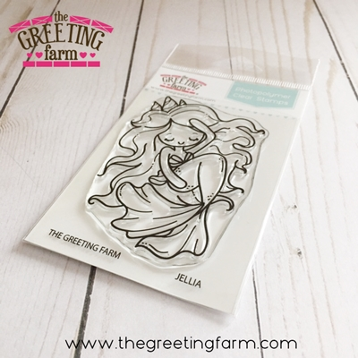 The Greeting Farm JELLIA MERMAID Clear Stamps tgf537 Preview Image