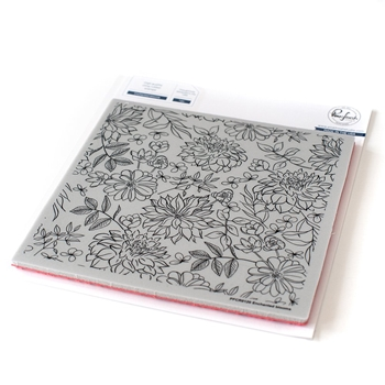 Pinkfresh Studio ENCHANTED BLOOMS Cling Stamp pfcr0120