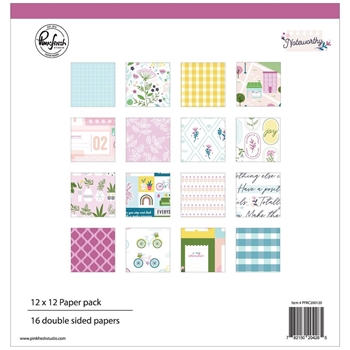 Pinkfresh Studio NOTEWORTHY 12 x 12 Paper Pack pfrc200120