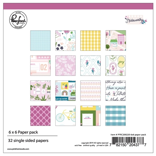 Pinkfresh Studio NOTEWORTHY 6 x 6 Paper Pack pfrc200220 Preview Image