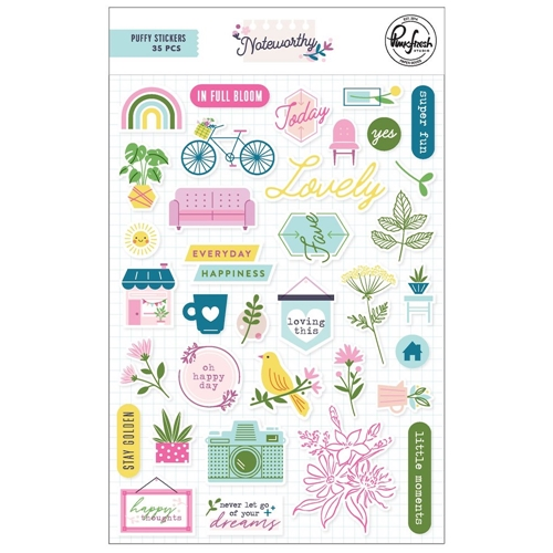 Pinkfresh Studio NOTEWORTHY Puffy Stickers pfrc200320 Preview Image