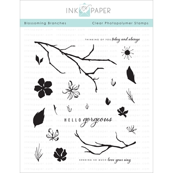 Papertrey Ink BLOSSOMING BRANCHES Clear Stamps 1146