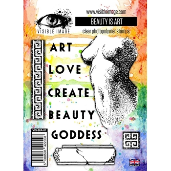 Visible Image BEAUTY IS ART Clear Stamp Set VIS-BIA-01