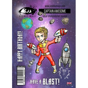 Visible Image CAPTAIN AWESOME Clear Stamp Set VIS-CAP-01