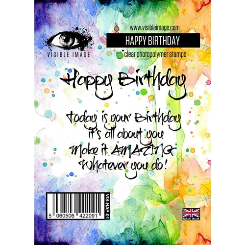 Visible Image HAPPY BIRTHDAY Clear Stamp Set VIS-HAP-01 Preview Image