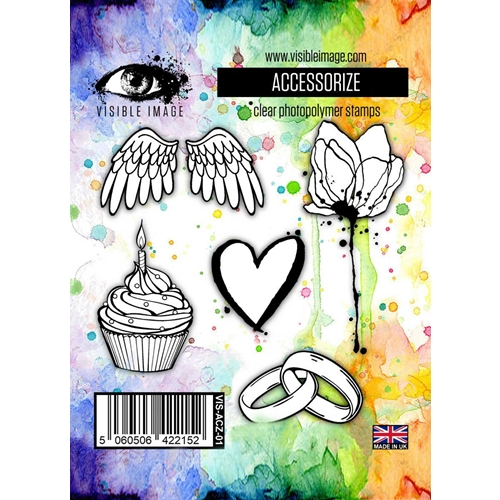 accessory stamps | heart | flower | wings | cupcake
