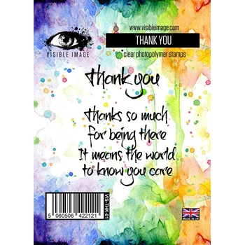 Visible Image THANK YOU Clear Stamp Set VIS-THK-01