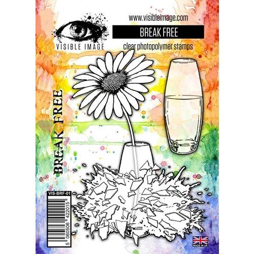 daisy | flower | stamp | vase | smashed | break free