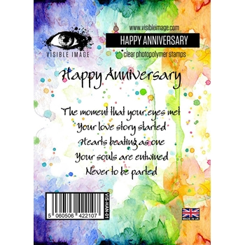 Visible Image HAPPY ANNIVERSARY Clear Stamp Set VIS-HAN-01