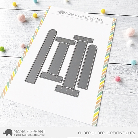 Mama Elephant SLIDER GLIDER Creative Cuts Steel Dies Preview Image