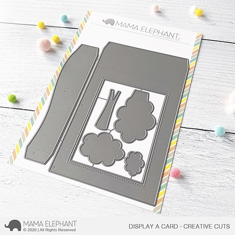 Mama Elephant DISPLAY A CARD Creative Cuts Steel Dies Preview Image
