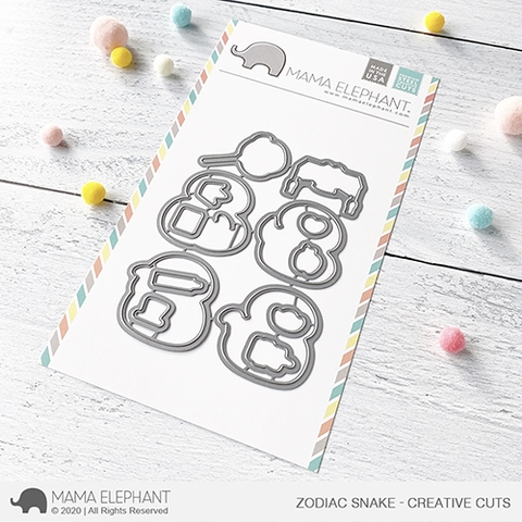 Mama Elephant ZODIAC SNAKE Creative Cuts Steel Dies Preview Image
