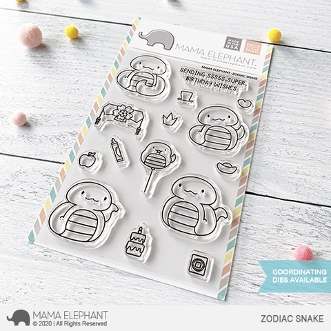 Mama Elephant Clear Stamps ZODIAC SNAKE Preview Image