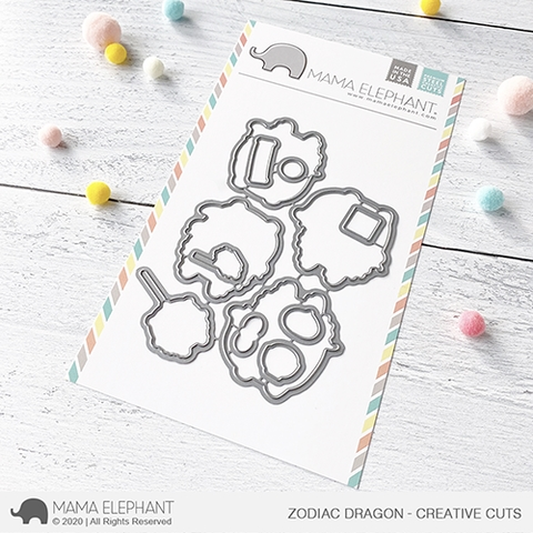 Mama Elephant ZODIAC DRAGON Creative Cuts Steel Dies Preview Image