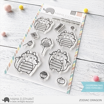 Mama Elephant Clear Stamps ZODIAC DRAGON