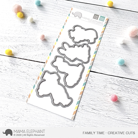 Mama Elephant FAMILY TIME Creative Cuts Steel Dies Preview Image