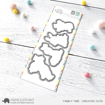 Mama Elephant FAMILY TIME Creative Cuts Steel Dies