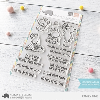 Mama Elephant Clear Stamps FAMILY TIME