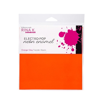 Therm O Web Rina K Designs ORANGE GLOW ENAMEL 6x6 Inch Transfer Sheets 18163