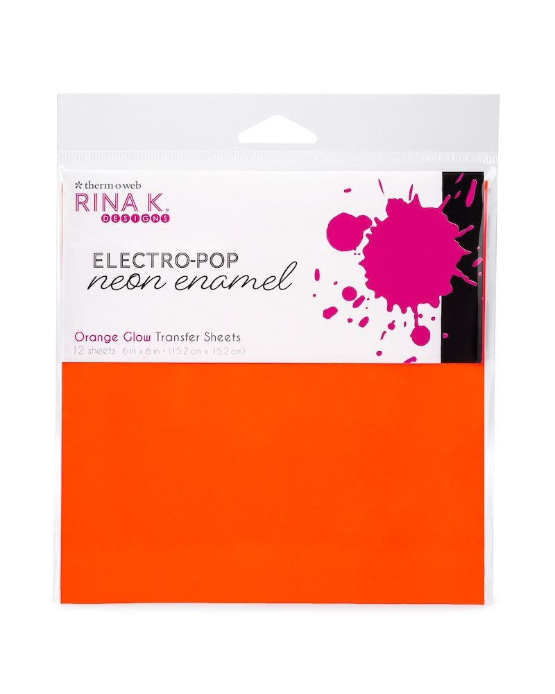 Therm O Web Rina K Designs ORANGE GLOW ENAMEL 6x6 Inch Transfer Sheets 18163 zoom image