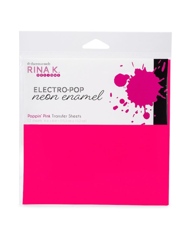 Therm O Web Rina K Designs POPPIN' PINK ENAMEL 6x6 Inch Transfer Sheets 18164 zoom image