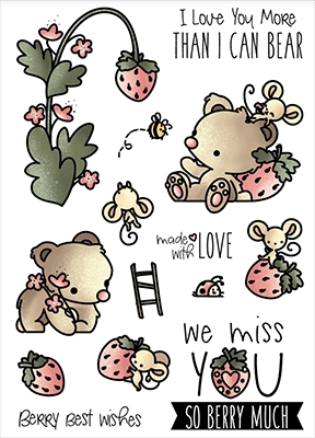 LDRS Creative Strawberry Patch Clear Stamp Set