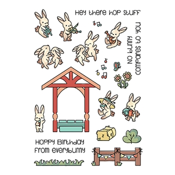 LDRS Creative BUNNY BAND PALS Clear Stamps 3182
