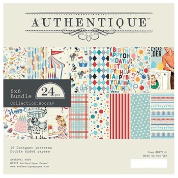Authentique 6 x 6 HOORAY Paper Pad hry010