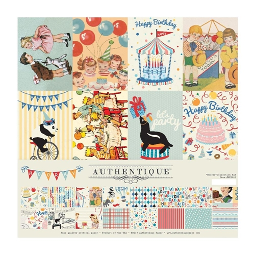 Authentique HOORAY 12 x 12 Collection Kit hry011 Preview Image