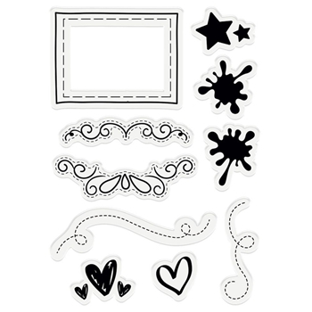 Crafter's Companion ACCENTS AND FRAMES A6 Acrylic Stamps scfstaccf