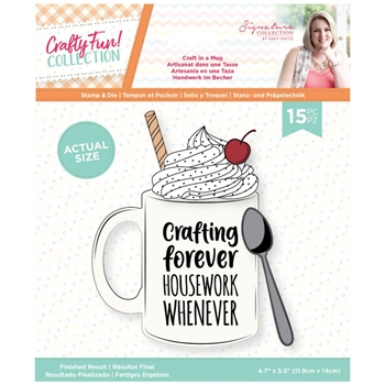 Crafter's Companion CRAFT IN A MUG Stamp And Die Set scfstdcmug