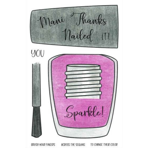 Inky Antics NAIL POLISH Clear Stamp Set 11490mc* Preview Image