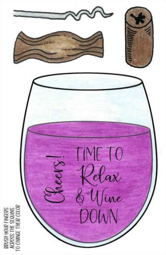 Inky Antics RELAX AND WINE DOWN Clear Stamp Set 11492mc zoom image