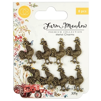 Craft Consortium Farm Meadow ROOSTER CHARMS CCMCHRM011