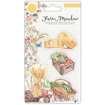Craft Consortium Farm Meadow PICK OF THE CROP Clear Stamps CCSTMP025