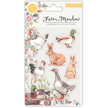 Craft Consortium Farm Meadow ANIMALS Clear Stamps CCSTMP026