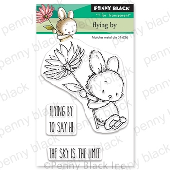 Penny Black Clear Stamps FLYING BY 30-681