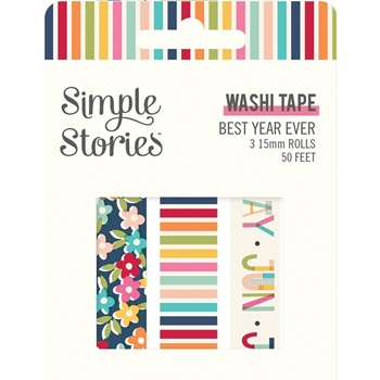 Simple Stories BEST YEAR EVER Washi Tape 12020