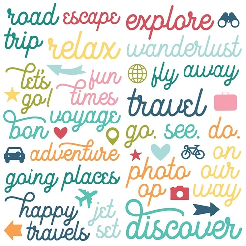 Simple Stories GOING PLACES Foam Stickers 12323 Preview Image
