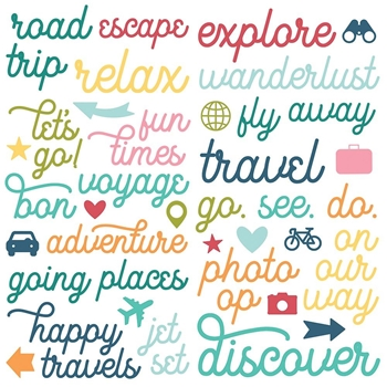 Simple Stories GOING PLACES Foam Stickers 12323