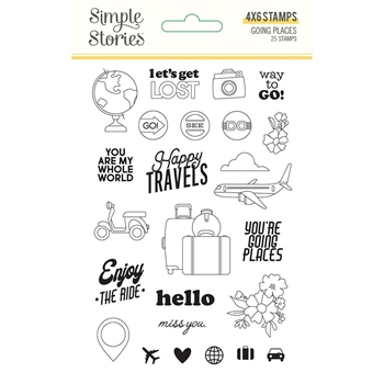 Simple Stories GOING PLACES Clear Stamp Set 12324