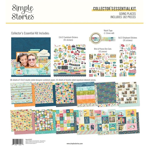 Simple Stories GOING PLACES 12 x 12 Collector's Essential Kit 12327 Preview Image